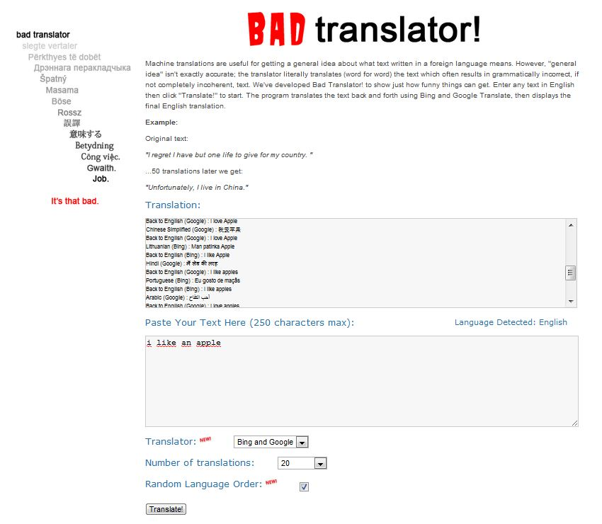 Bad translator